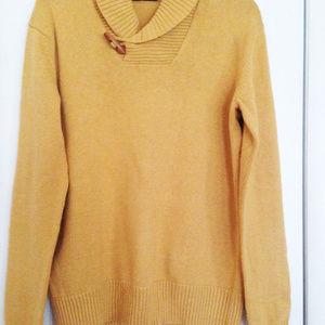 Sweater mens new size S cotton mustard Sean John